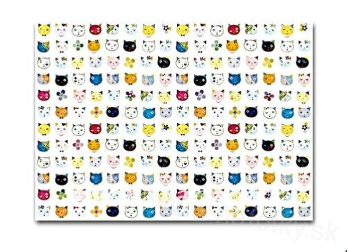 Gift paper Cats white 50x70cm