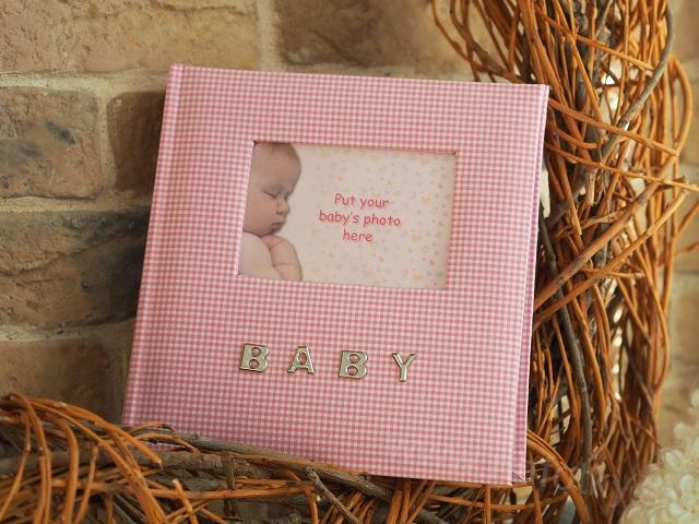 Q93 BABY GINGHAM PINK 100 10x15