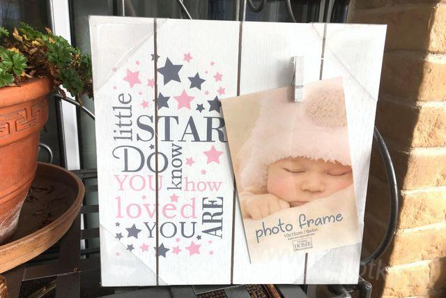 BABY LITTLE STAR CLIPPER PINK 10x15
