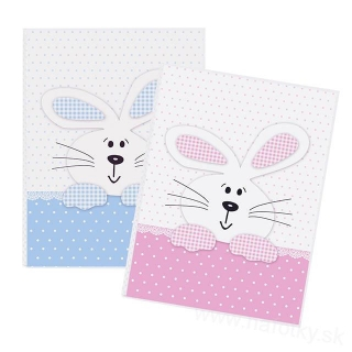 BUNNY PINK/BLUE MIX 32/10x15