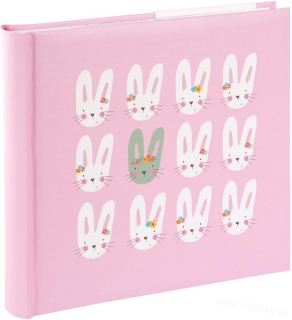 CUTE BUNNIES PINK  BB200 10x15