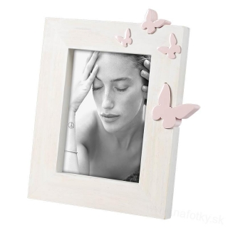 A1302 FRAME BUTTERFLY PINK 13x18