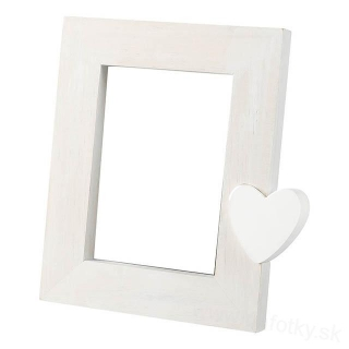 A1303 FRAME HEART WHITE 13x18