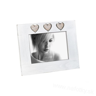 A945  FRAME 13x18 WHITE /3hearts