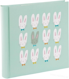 CUTE BUNNIES GREEN BB200 10x15